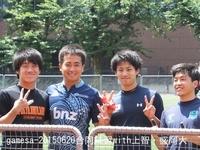 左から石川陽介(2)、宮間一彰(4)、須藤晃太(2)、山崎 智史(2)